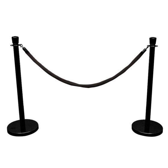 VXBAA3_Poll-Silver+Rope-Black_UAE_Furniture_Rental