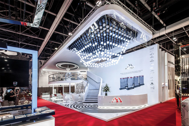 Greenbrier Company showcasing the newest exhibition stand trends in Dubai