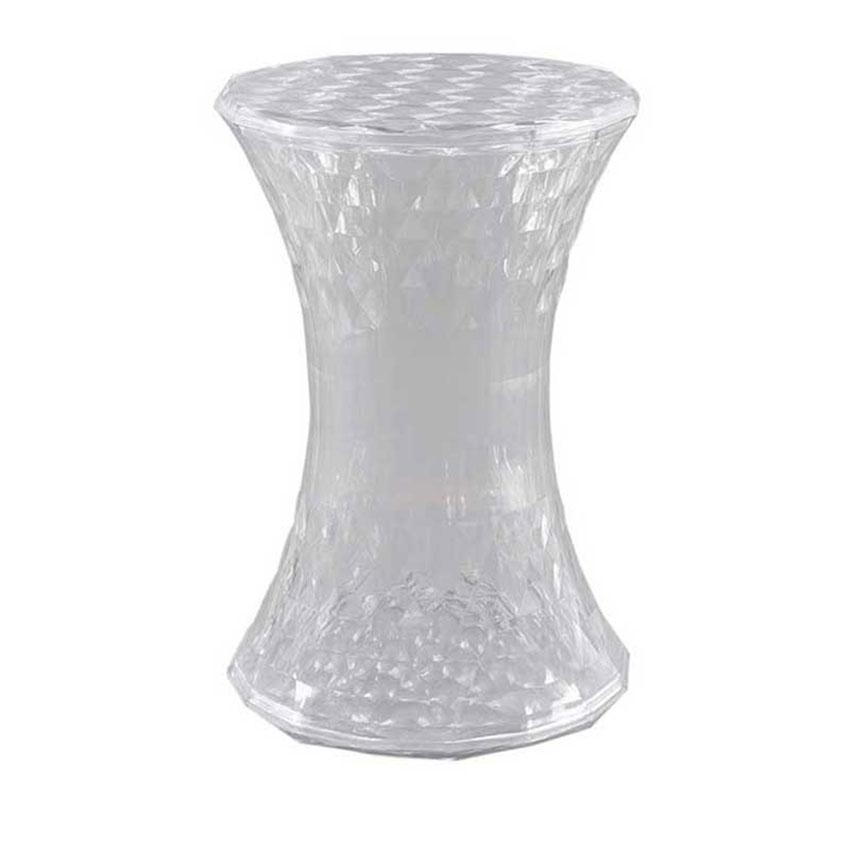 2-FDNNP-Benches-Poufs-Galaxy-Side-Table-Pouf-Grey-Silver-Multi