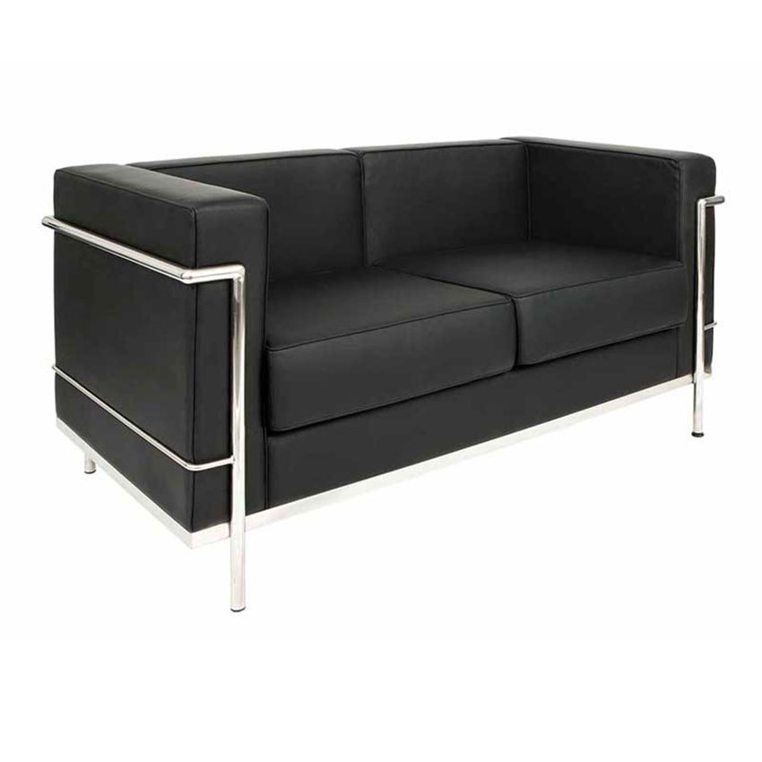 30-SRBBL-Sofa-Le-Corbu-2-Seater-Black