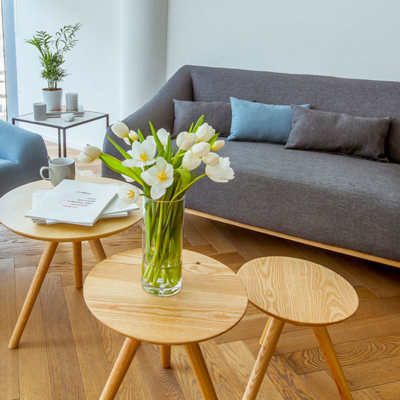 Coffee Table - Scandinavian Nesting - Furniture Rental