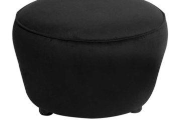 5-PXBBF-Benches-Poufs-Round-Velvet-Black