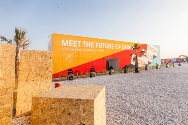 Global Grad Show Design Week Arcum Structure | Event Rentals Dubai | Electra