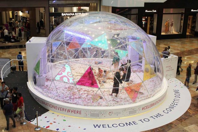 Confetti Dome - Mall Activations