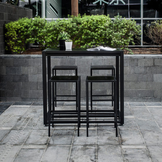 Black Industrial Cocktail Set - Furniture Rental