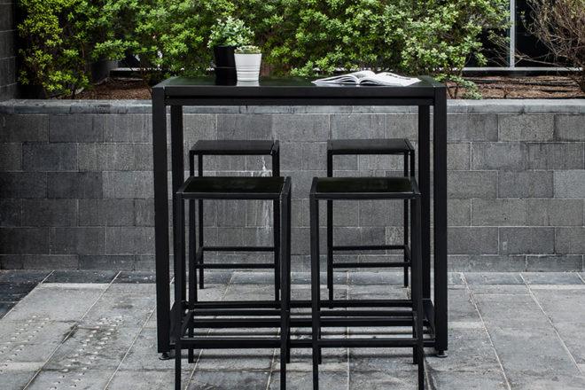 Black Industrial Cocktail Set - Furniture Rental