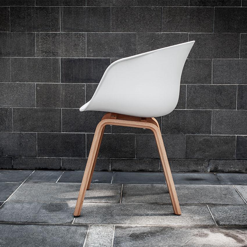 White Scandinavian Chair Electra Exhibitions