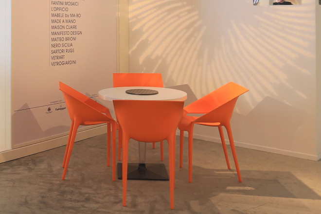 Furniture Rental - Orange Chairs