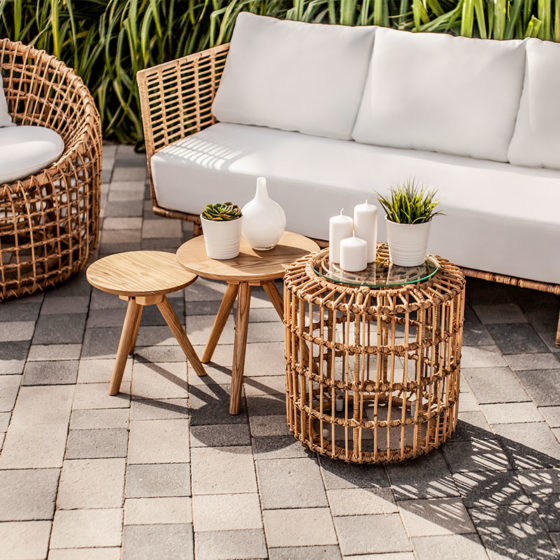 Lolah Rattan Set - Furniture Rental