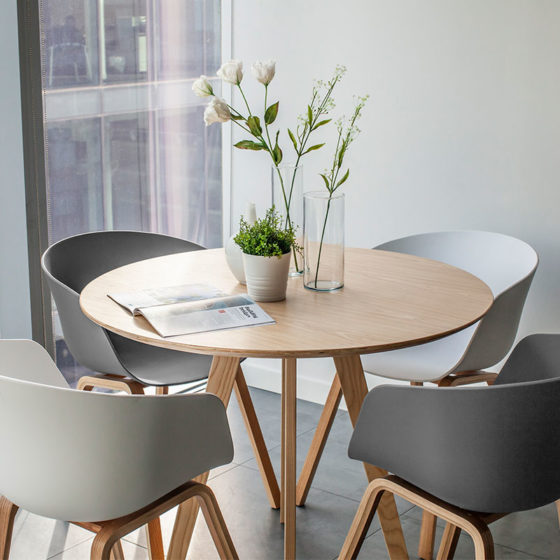Scandinavian Table Set - Furniture Rental Dubai