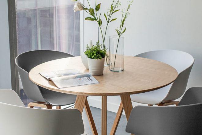 Scandinavian Table Set - Furniture Rental Dubai