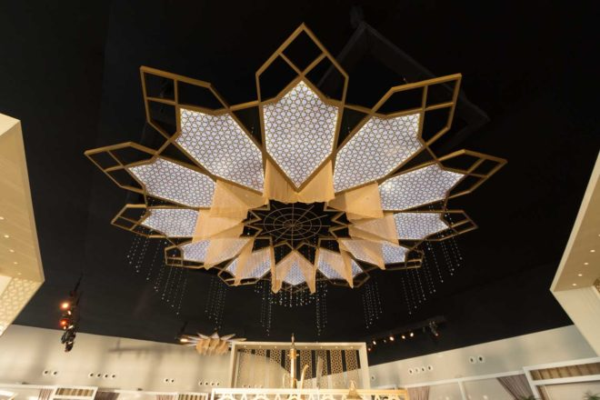 Bespoke Chandelier at Emirates Palace's Ramadan Tent 2017
