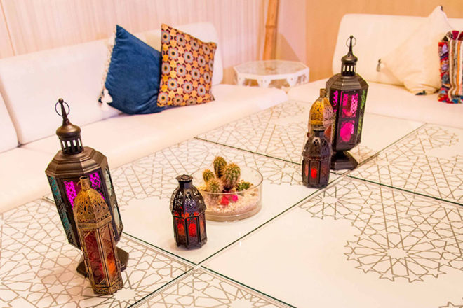 Mashrabiya Patterns on Tables - Dubai Opera Ramadan Tent
