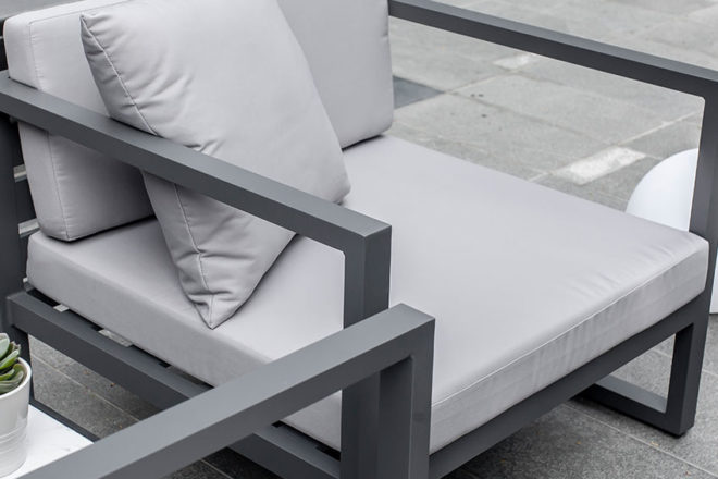 Low Seating Armchair - Santorini - Furniture Rental in Dubai