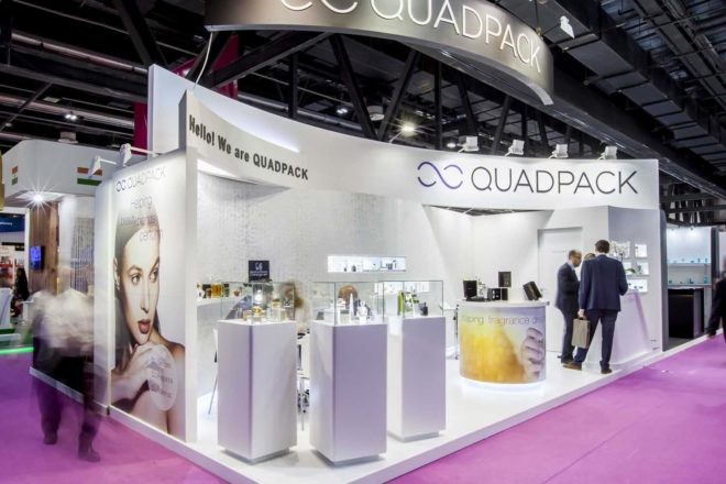 Softwood (Quadpack) Exhibition Stand at Beauty World 2016