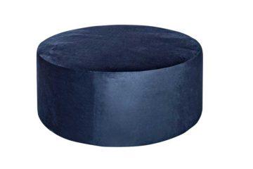 PRUBF_Round Ottoman_Dark Blue