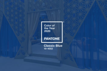 Pantone Color 2020 Classic Blue for Events and Exhibitions