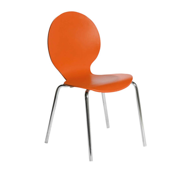 Sweet_Chair_Orange_Furniture_Rentals_UAE